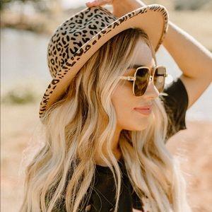 🆕 Leopard Print Wool Fedora Hat